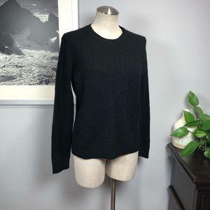 Brooks Brothers pure cashmere black sweater Sz L